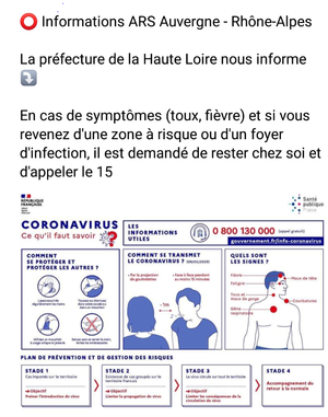 prévention coronavirus rappel