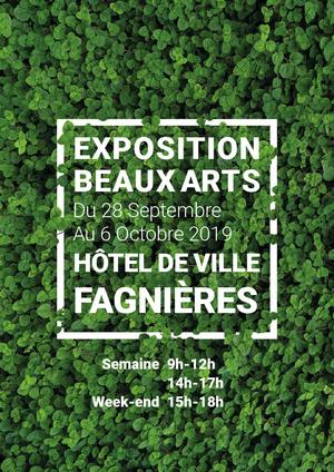 Affiche Expo Beaux Arts 2019