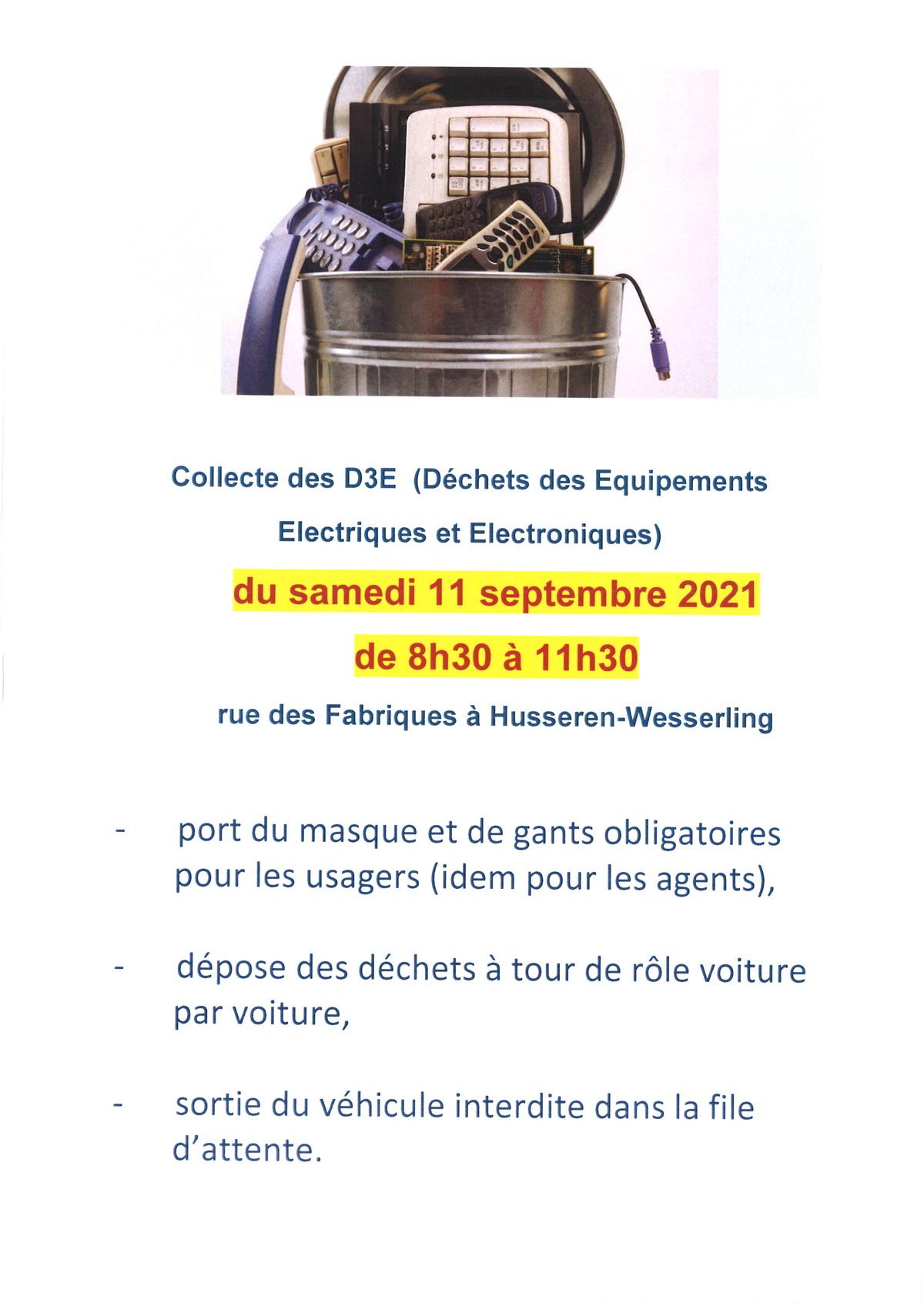 11 septembre - Collecte des D3E