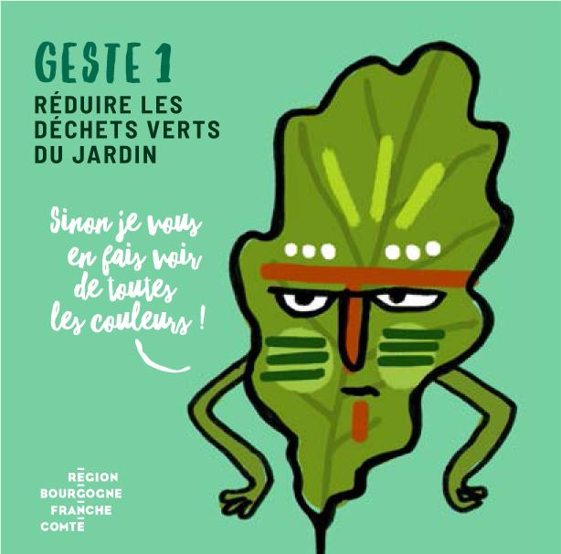 Geste 1: réduire les déchets verts du jardin